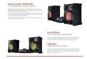 Som Samsung Giga Sound Mx-js9000 2600w Bluetooth E Dj Beat