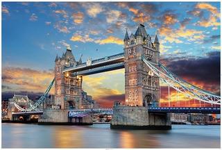 Rompecabezas 1000 Piezas Para Niños Y Adultos. Día Londres