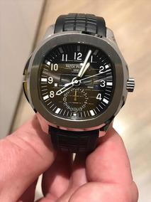 Relógio Eta Patek Philippe Aquanaut Jumbo 5164a Dial Preto