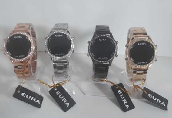 Kit C/10 Relógios Eura Digital Feminino Atacado Lote Revend