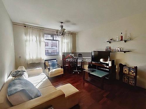 Apartamento Com 2 Dormitórios À Venda, 89 M² Por R$ 385.000,00 - Campo Grande - Santos/sp - Ap2943