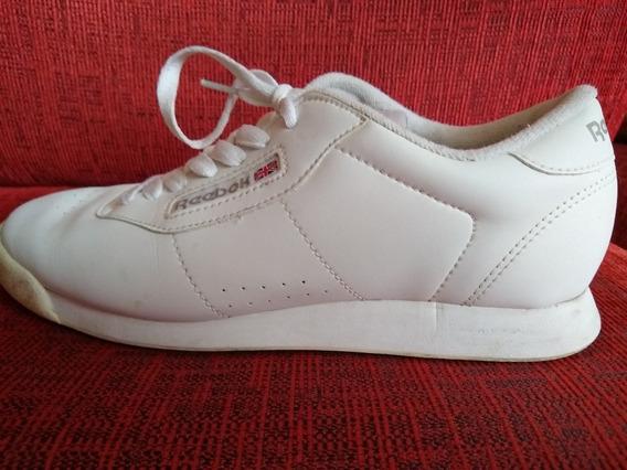 Reebok Classic Blancas Zapatilla Mujer Usa 8.5 Impecables !