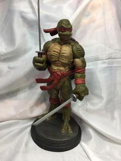 Tortugas Ninja Rafael Escultura Artesanal En Resina Replay