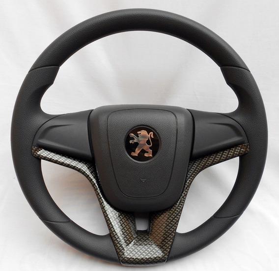 Volante Esportivo Cruze Carbono Kit Cubo Peugeot 207 Passion