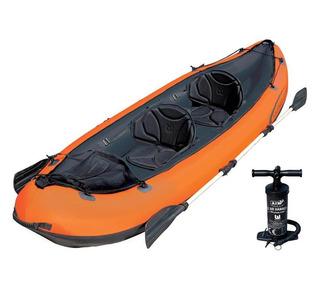 Caiaque Inflável Hydro Force Ventura Bestway Par Remos Canoa