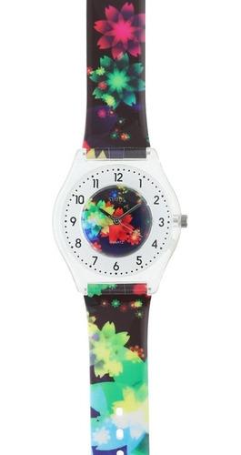 Imagen 1 de 4 de Reloj De Mujer Extra Liviano Status Multicolor S23g