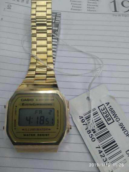 Relogio Casio Unisex A 168 Retro Vintage
