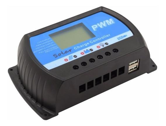 Controlador Carga Solar Digital 40a Led Hi Quality Pwm Kit 2