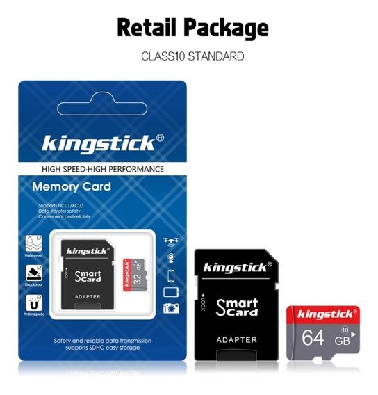 Cartão De Memória Kingstick, Com Adaptador 64gb - Original