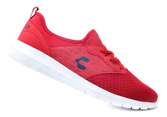 Tenis Comodos Charly 1022351 Rojo 100% Original