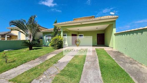 Casa Linear, Condomínio Alto Padrão, Residencial Villa Contorno/ Rio Das Ostras! - Ca1313