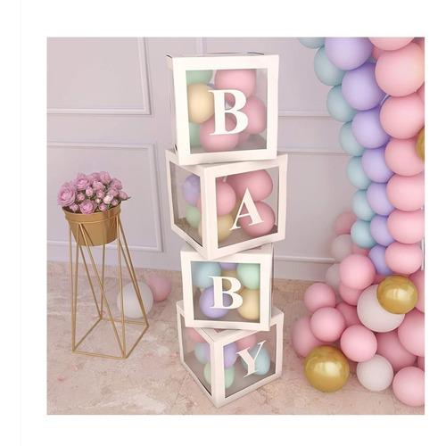 Cubos Plásticos Bombas  Decorativos Fiestas Baby Shower X 4