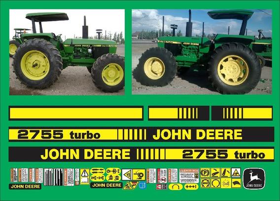 Calcomanias Tractor Agrícola John Deere 2755 Turbo Sincron