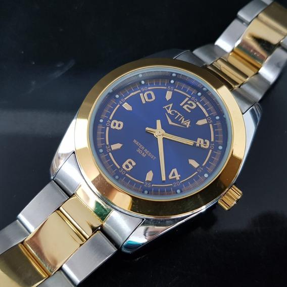 Relógio Masculino Activa Sf252-004 Azul Misto