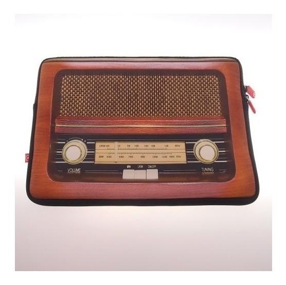 Capa Case P/ Laptop Radio Retro