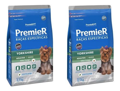 Ração Premier Cão Yorkshire 2,5kg Adulto Kit 2 Unidades