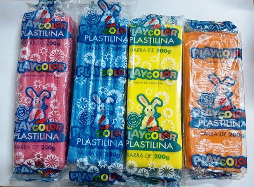Imagen 1 de 3 de Plastilina Playcolor X 200grs. X11 Colores Jardin Escuela