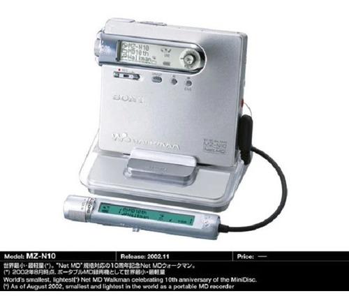 Imagen 1 de 2 de Minidisc Sony Mz N10 Y 6 Accesorios Hoy $4999