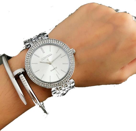 Relógio Feminino Luxo Quartzo Promoção Pronta Entrega Barato