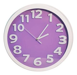 Reloj De Pared Redondo 30 Cm