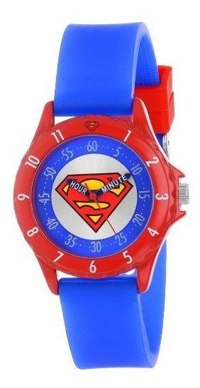 Superman Sup9010 - Reloj Infantil Con Banda De Goma Azul