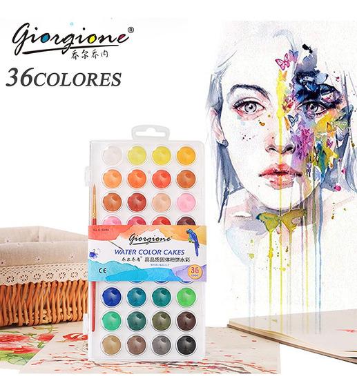 Pinturas De Acuarela De Alta Calidad, 36 Colores