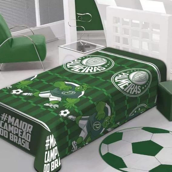 Manta Soft Jolitex Palmeiras Verde