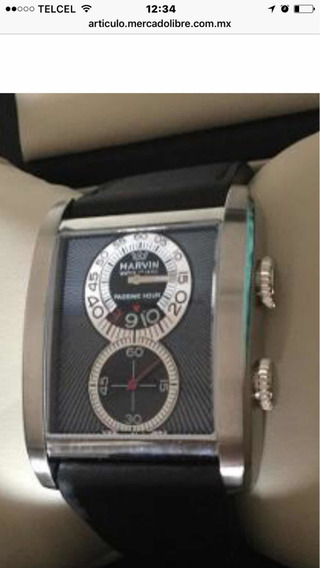 Hermoso Reloj Marvin C1850 Rectangular Fliyng Hour