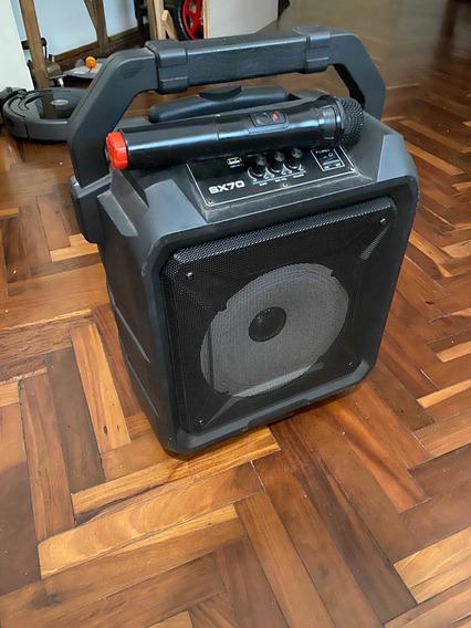 Parlante Bluetooth Karaoke C Micrófono Inalámbrico Impecable