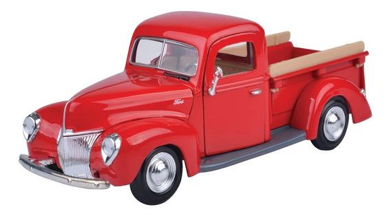 Auto Ford Clásico Pickup 1940 Escala 1/24 Colección Motormax