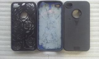 Kit C/3 Capa De Proteção Apple iPhone 4 4s Usada
