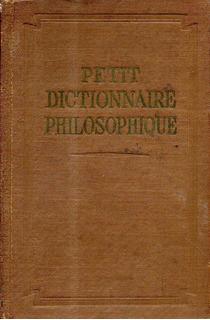 Petit Dictionnaire Philosophique En Frances Libreria Merlin