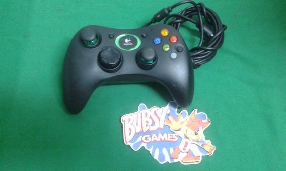 Xbox Classic Controle No Estado Logitech (leia)