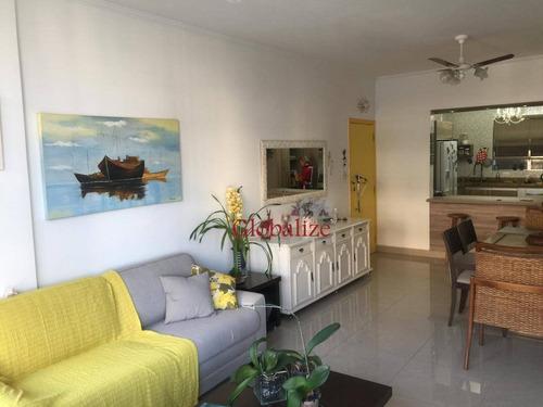 Apartamento Com 3 Dormitórios À Venda, 139 M² Por R$ 795.000,00 - Boqueirão - Santos/sp - Ap0441