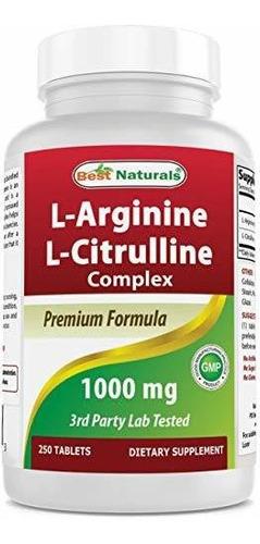 Best Naturals L-arginine L-citruline Complex Tabletas, 250 U