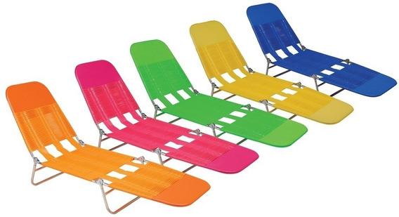 Cadeira Espreguiçadeira Adulto Vinil Praia Piscina Dobrável