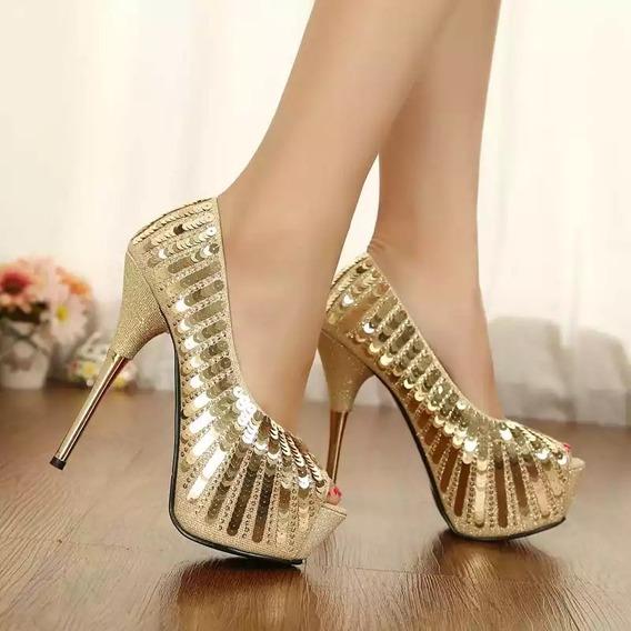 Sapato Feminino Salto Alto Importado Pronta Entrega