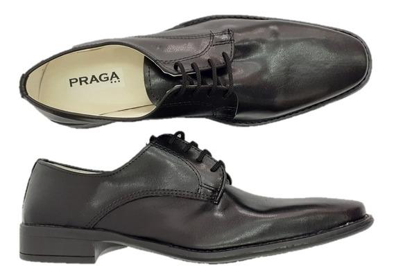 Zapato Praga Hombre Vestir Cuadrado Negro Fiesta Oferta 8002