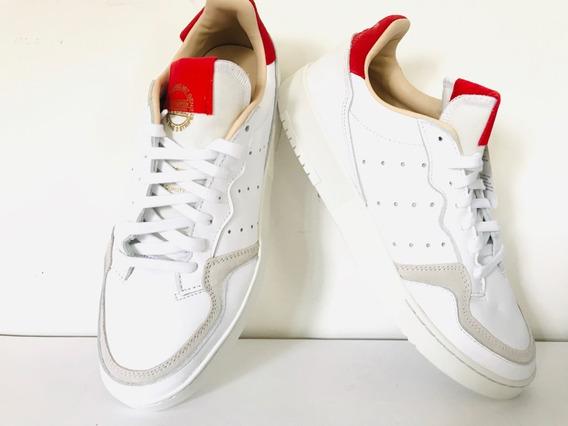 Aliviar pasos Producto  Adidas Blancas Con Rayas Rojas   MercadoLibre.com.mx