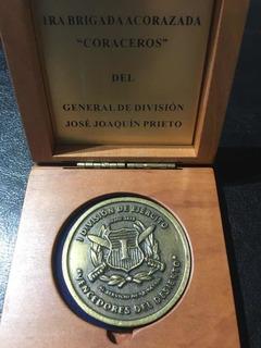 Moneda Medalla Primera Brigada Coraceros Ejército Militar