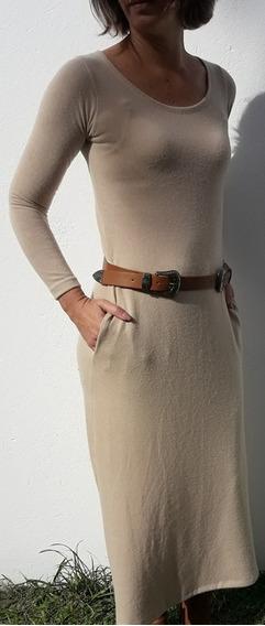 Vestidos Largos De Lanilla Con Bolsillos