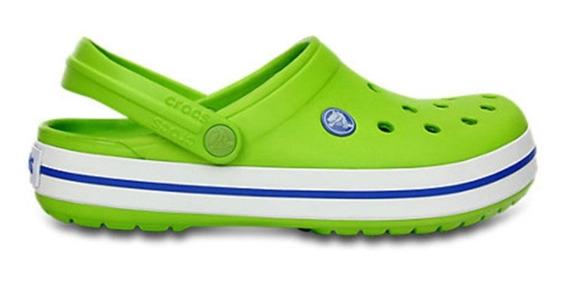 Crocs Crocband Unisex Volt Green / Versity Blue Originales