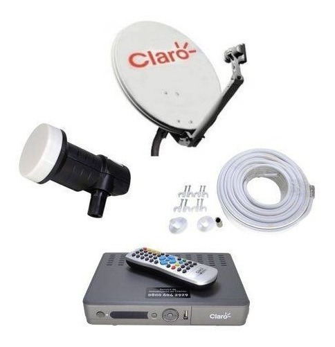 Receptor Claro Tv Pre Pago + Antena 60 Cm + Globo & Sbt