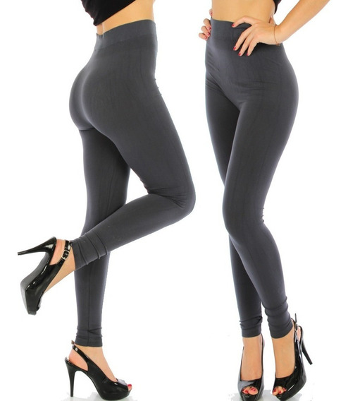 10 Leggins Jera Negros Faja Termicos Pantalones Afelpados
