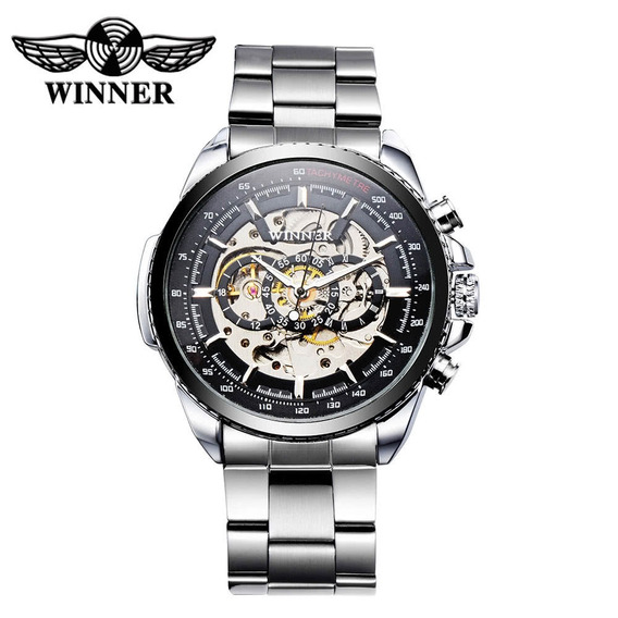 Winner Hollowed-out Relógio Mecânico Automático De Alto Qual