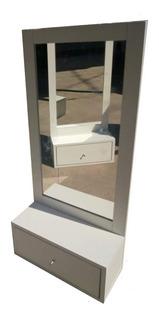 Mueble De Peluqueria Estetica Barberia Con Espejo Melamina