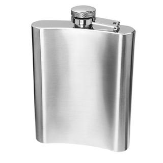 Oggi Stainless Steel Hip Flask W Filling Funnel 8 Oz.