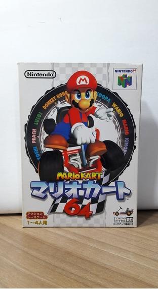 Mario Kart 64 Nintendo 64 Japonês Original Na Caixa