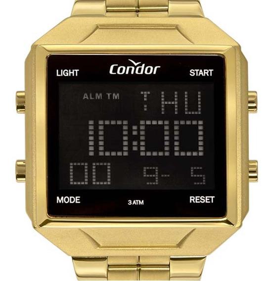 Relógio Condor Masculino Digital Cobj2649ae/4d Dourado