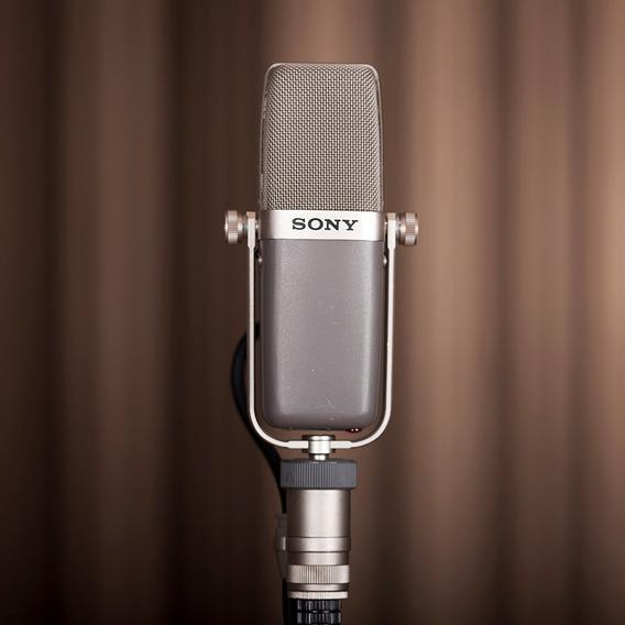 Microfone Condenser Sony C-38b - Aceito Troca! Raríssimo!